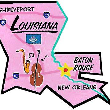 Louisiana touristische Karte von Havocgirl