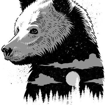 Face Bear Grizzly de albertocubatas