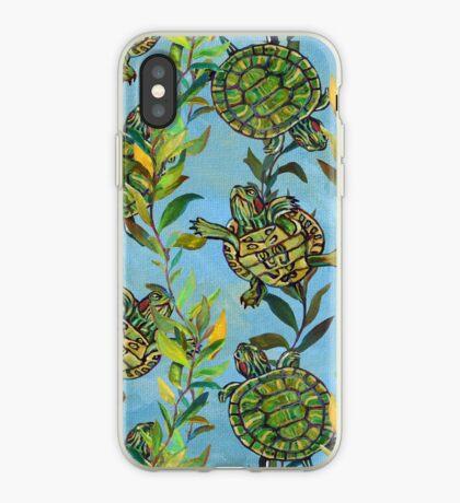 Slider Turtle Pattern  iPhone Case