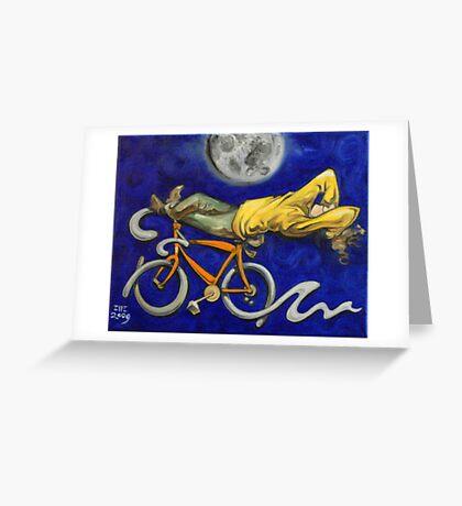 Man on bicycle Greeting Card