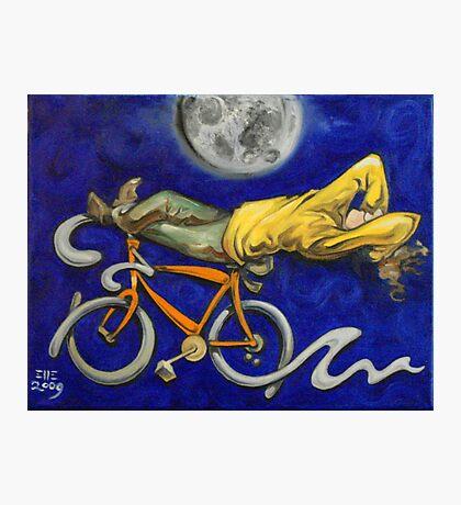 Man on bicycle Photographic Print