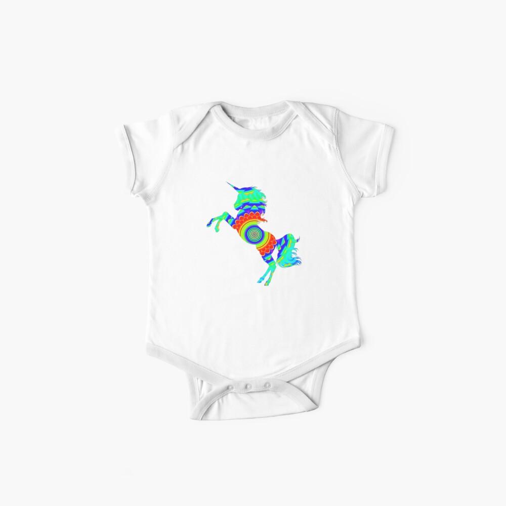 Rainbow Spiral Star Einhorn Design Poop Emoji Baby Bodys