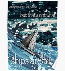 A Ship in Harbor Poster