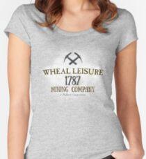 Wheal Leisure Mine 1787 - Poldark Women's Fitted Scoop T-Shirt