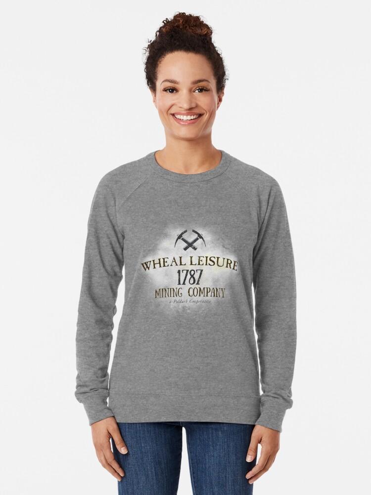 Alternate view of Wheal Leisure Mine 1787 - Poldark Lightweight Sweatshirt