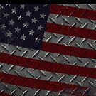 Tough As Steel American Flag by Dani Kaulakis