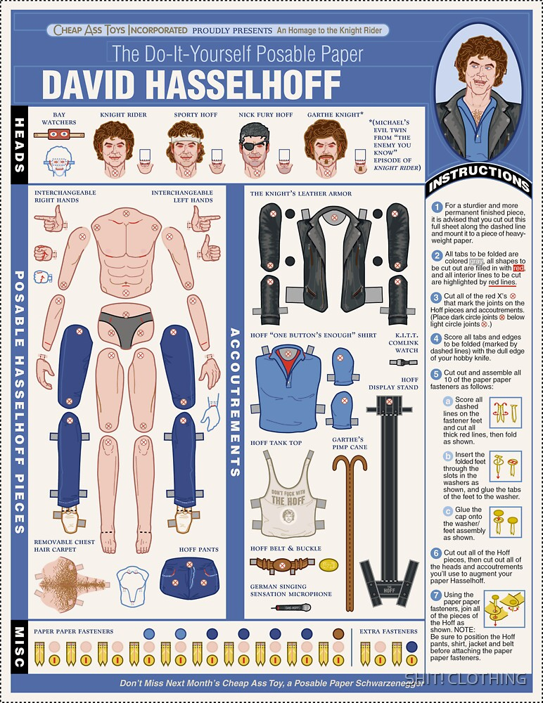 poseable david hasselhoff by SHIT! CLOTHING