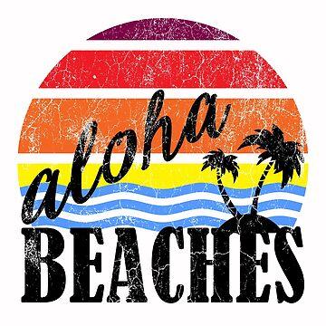 Aloha Beaches in Black | Beach Designs | DopeyArt by DopeyArt
