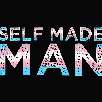 Distressed Vintage Self Made Man FTM Trans Transgender Flag LGBTQ Gifts  by Tinkery