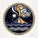 La Vita è Bella - Mittelmeervulkan in Tan Blue Palette von Cat Coquillette