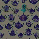 Purple teapots everywhere by jennyjeffries