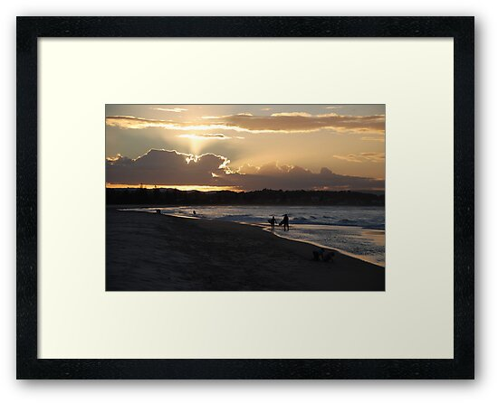 Days end at the beach by Graham Mewburn