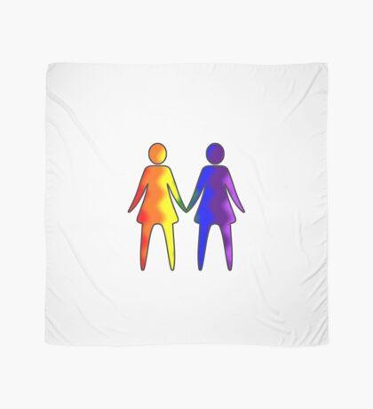 Wavy Rainbow Lesbian Couple #LGBT #Pride Scarf