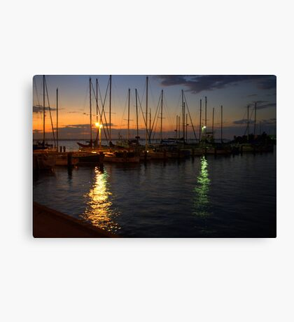 Dawn at the Marina Canvas Print