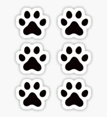 Pawprint stickers Sticker