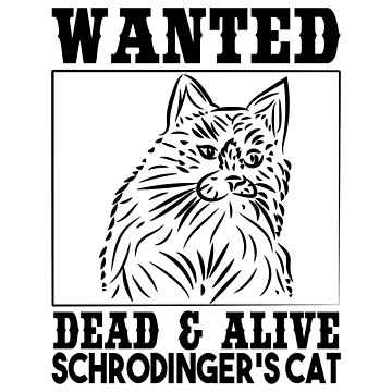 Wanted Schrodinger s cat Black OutLine by NiceTeee