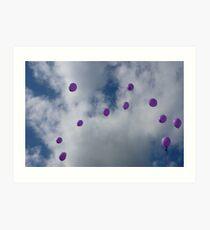 Purple Protest: Votes In The Sky Art Print