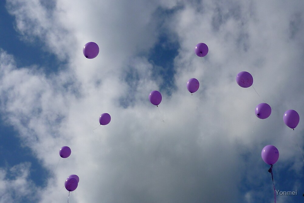 Purple Protest: Votes In The Sky by Yonmei