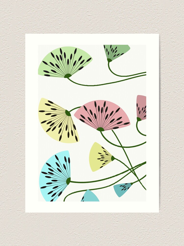 Alternate view of Dandyflowers - White Art Print