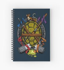 Turtle Family Crest - Full Color Spiral Notebook