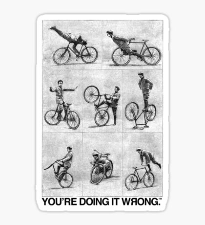 FIXIE | You're Doing It Wrong Sticker