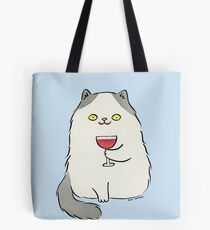 Red Wine Moustache Tote Bag