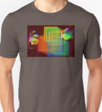 Computer Generated Abstract Squares Fractal Flame T-Shirt