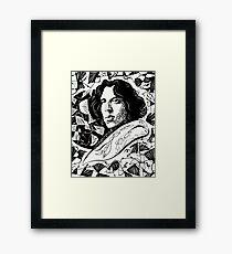 Oscar Wilde BW Framed Print