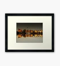 Reflections of Amsterdam - Golden City Framed Print