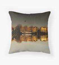 Reflections of Amsterdam - Golden City Throw Pillow