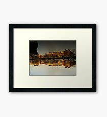 Reflections of Amsterdam - I love it Framed Print