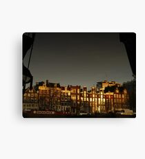 Reflections of Amsterdam - Waves Canvas Print