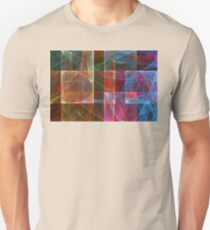 Abstract Checkered Pattern Fractal Flame T-Shirt