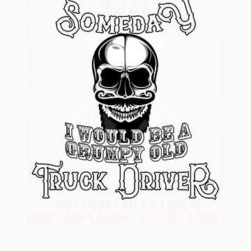 I Never Dreamed I Would Be a Grumpy Old Truck Driver! But Here I am Killing It   Funny Profession Gi by orangepieces