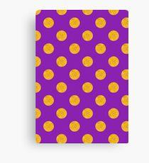 Gold and Purple Polka Dot Canvas Print