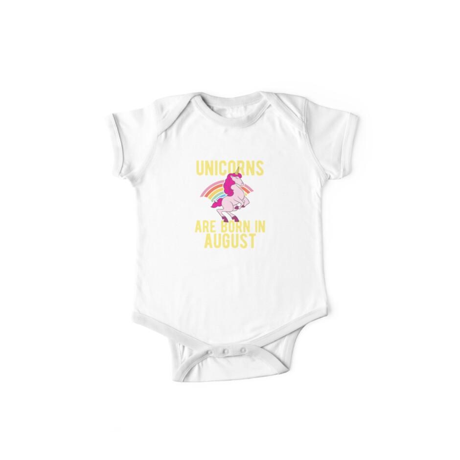 Unicorns Are Born In August Shirt Birthday Month Gift Tee von haselshirt