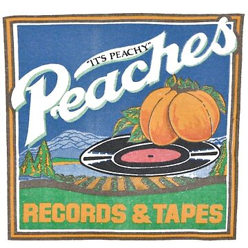 Peaches Records und Tapes retro von nicoloreto