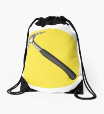 captain hammer symbol Drawstring Bag