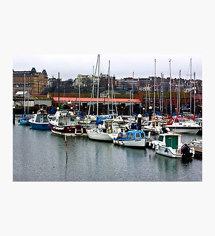 Boats - Scarborough Harbour Photographic Print