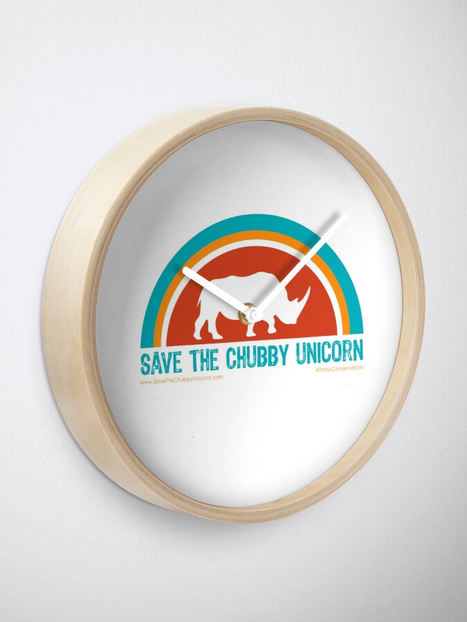 Alternate view of Save The Chubby Unicorn Arches Design Clock