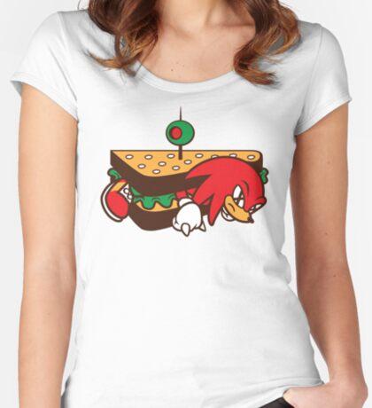 KNUCKLES SANDWICH Women's Fitted Scoop T-Shirt