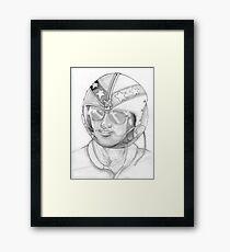 Top Gun 1980s, Pilot in pencil Framed Print