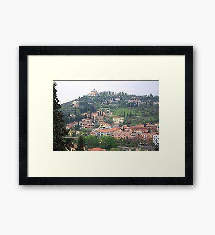 View of Verona City Framed Print
