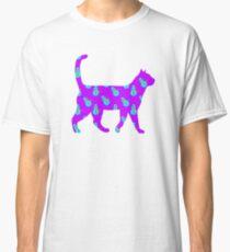 Schneemannkatze lila Classic T-Shirt