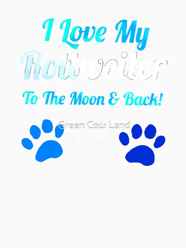 Ich liebe meinen Rotreiler bis zum Mond und von KaylinArt