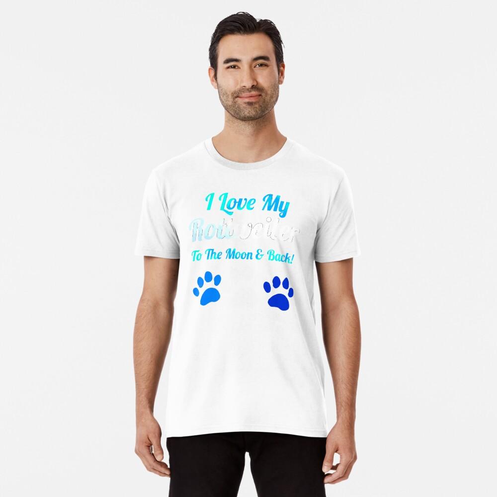 Ich liebe meinen Rotreiler bis zum Mond und Premium T-Shirt