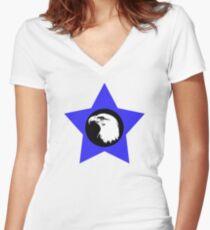 Bald Eagle (White) T-Shirt Women's Fitted V-Neck T-Shirt