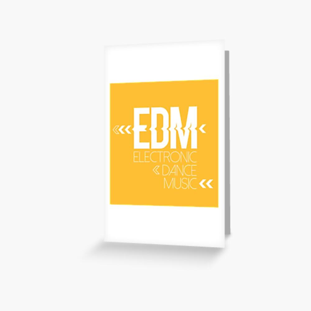 EDM passion Tarjetas de felicitación