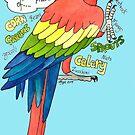 Hungry Scarlet Macaw by Skye Elizabeth  Tranter