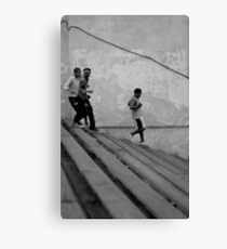 Running the Steps II Canvas Print